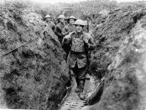 WW1 foxholes
