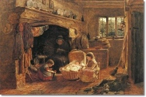 """By the Fireside "" by George Smith 1858"