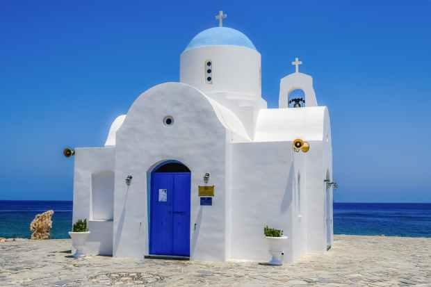 architecture beach blue sky chapel